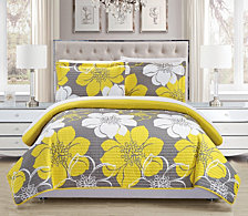 Chic Home Woodside 7 Piece Queen Bed in a Bag Quilt Set