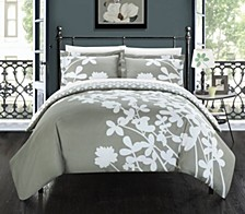 Calla Lily 7 Pc Queen Duvet Set