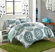 Chic Home Ibiza 7-Pc. Bed In a Bag Duvet Sets
