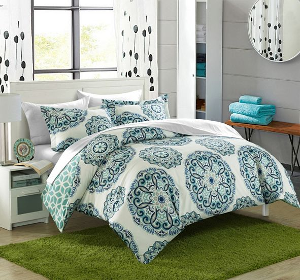 Chic Home Ibiza 7 Piece Full/Queen Bed In a Bag Duvet Set
