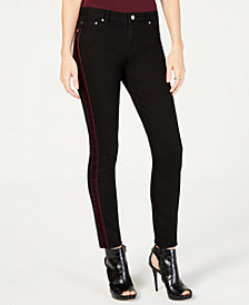 MICHAEL Michael Kors Velvet-Trim Tuxedo Skinny Jeans, in Regular and Petite Sizes