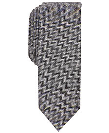 Penguin Men's Decker Skinny Herringbone Tie