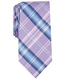 Nautica Men's Cropley Slim Plaid Silk Tie