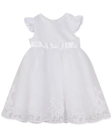 Rare Editions Baby Girls Organza Christening Gown