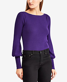 Lauren Ralph Lauren Puffed-Sleeve Sweater