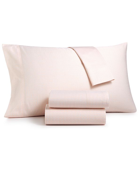 Charter Club Wovenblock Supima Cotton 550 Thread Count 3-Pc. Twin Sheet Set, Created for Macy's