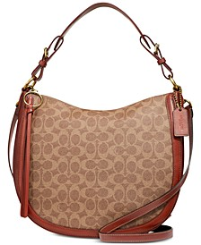 Coated Canvas Signature Sutton Hobo