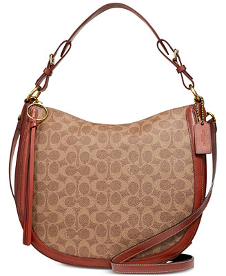 Coated Canvas Signature Sutton Hobo by Coach