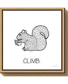 Color the Forest VIII Climb by Elyse Deneige Canvas Framed Art