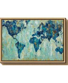 Amanti Art Map of the World by Silvia Vassileva Canvas Framed Art