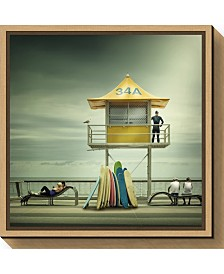 Amanti Art The life guard by Adrian Donoghue Canvas Framed Art