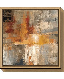 Amanti Art Silver and Amber Crop by Silvia Vassileva Canvas Framed Art
