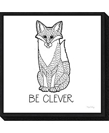 Color the Forest IV Be Clever by Elyse Deneige Canvas Framed Art