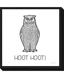 Amanti Art Color the Forest V Hoot Hoot by Elyse Deneige Canvas Framed Art