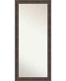 Rustic Pine Wood 29x65 Floor-Leaner Mirror