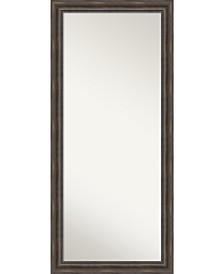 Amanti Art Rustic Pine Wood 29x65 Floor-Leaner Mirror