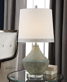 Uttermost Padova Aged Light Blue Lamp