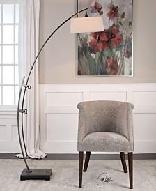 Uttermost Calogero Bronze Arc Floor Lamp