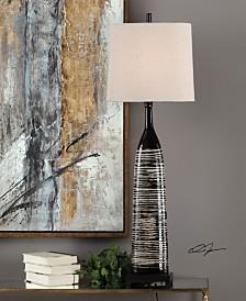 Uttermost Kanza Gloss Black Lamp