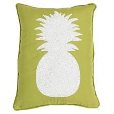 """Kalea Pineapple Sequin Faux Linen Pillow, 14"""" x 18"""""""