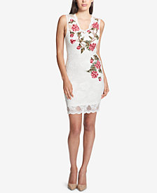 GUESS Embroidered Lace Dress