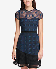 kensie Illusion Lace Dress
