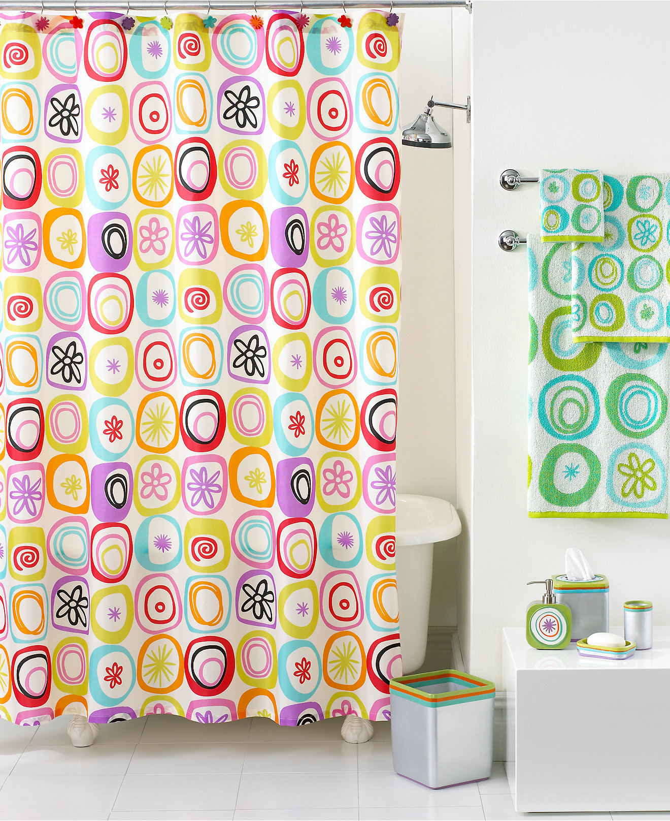 Clear fish shower curtain - Creative Bath All That Jazz Collection