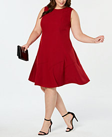Anne Klein Plus Size Fit & Flare Sleeveless Dress