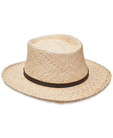 Scala Men's Raffia Gambler Hat