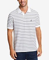 f279ab74ffa Nautica Men s Classic Fit Performance Striped Deck Polo