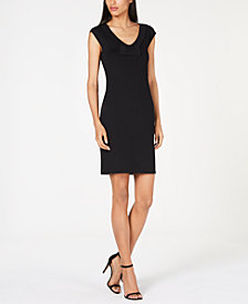 Anne Klein Bow-Embellished Sheath Dress