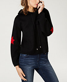I.N.C. Star-Patch Hoodie Sweater, Created for Macy's