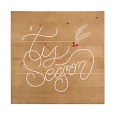Cathys Concepts Tis the Season Rustic Wooden Wall Art