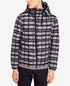 A|X Armani Exchange Men's Plaid Two-Way Zip Jacket