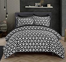 Chic Home Elizabeth 3 Pc Queen Duvet Cover Set