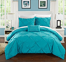 Chic Home Daya 4 Pc Queen Duvet Cover Set
