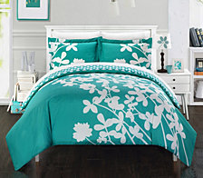 Chic Home Calla Lily 3 Pc King Duvet Cover Set