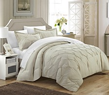 Veronica 3 Pc Queen Duvet Cover Set