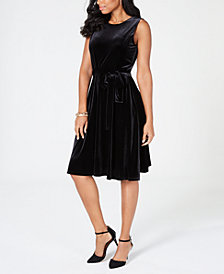 Charter Club Velvet Midi Dress, Created for Macy's