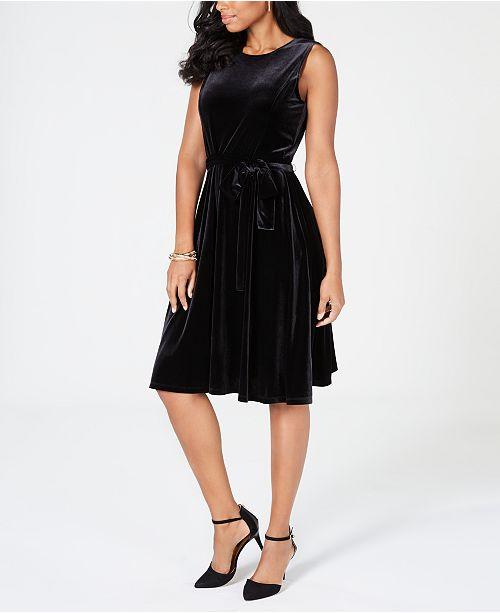 efd3b53031 ... Charter Club Velvet Midi Dress