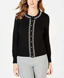 Faux Pearl Trim Cardigan, Created for Macy's