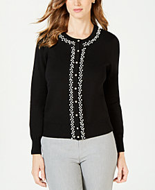 Charter Club Embellished Cardigan, Created for Macy's