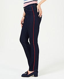 Piping-Trim Straight-Leg Jeans, Created for Macy's