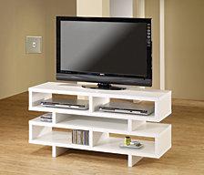 Brooklyn Contemporary Open Storage TV Console