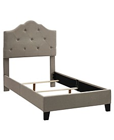 Upholstered Tufted Round Bed, Twin