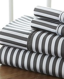 Home Collection Premium Ultra Soft Ribbon Pattern 4 Piece Bed Sheet Set