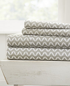 Home Collection Premium Ultra Soft Puffed Chevron Pattern 4 Piece Bed Sheet Set