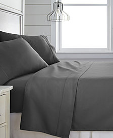Home Collection 300 Thread Count 4 Piece Bed Sheet Set - 100% Cotton, King