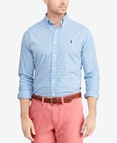 a4da0008b Polo Ralph Lauren Men's Big & Tall Classic Fit Plaid Cotton Poplin Shirt