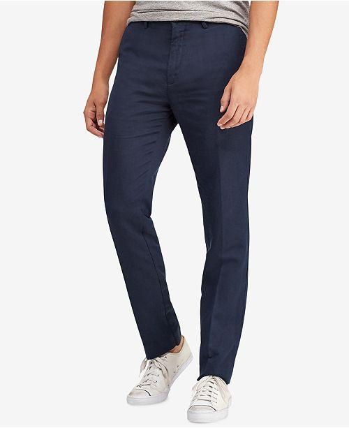 professional sale brand quality price remains stable Polo Ralph Lauren Men's Classic Fit Linen-Blend Pants ...